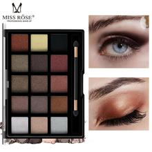 Brand MISS ROSE New 15 Color Eyeshadow Pearl Matte Eye Shadow Professional Pearly Makeup Multicolor Set