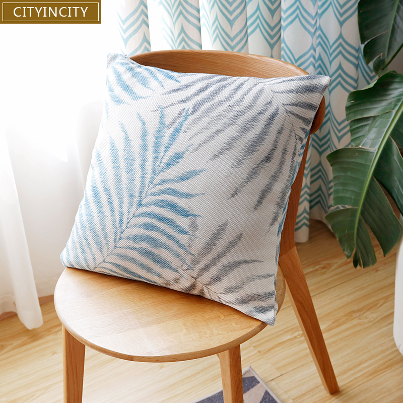 CITYINCITY Solid Cushion Cover printed faux linen <font><b>Pillow</b></font> <font><b>Case</b></font> <font><b>Pillow</b></font> cover Home Decor For sofa bed car seat 45x45 <font><b>50x50</b></font> image