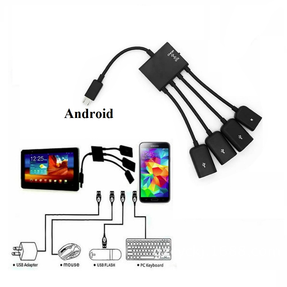 for Dell Venue 8 3830 Tablet Micro USB OTG Host Adapter Cable Cord