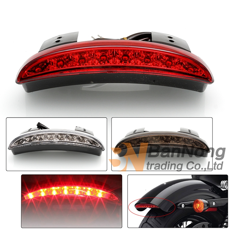 Motorcycle Lights Rear Fender Edge Red Led Brake Tail Light Motocycle For Touring Sportster Xl 883 1200 Cafe Racer Fine Quality Back To Search Resultshome