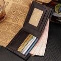 Hot Sale Black Coffee Business Portable Style Vintage Designer Leather Men Slim Thin Credit Card Wallet Male Purse Money Clips