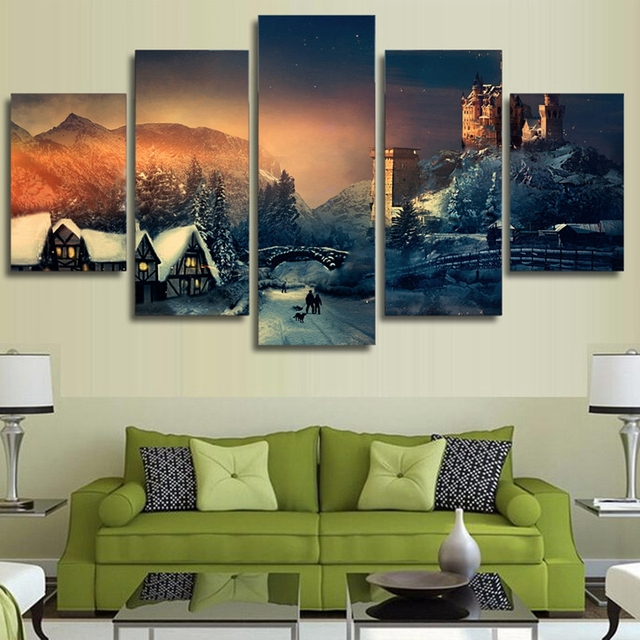 Canvas Wall Art Pictures Frame Kitchen Restaurant Decor 5 Pieces ...