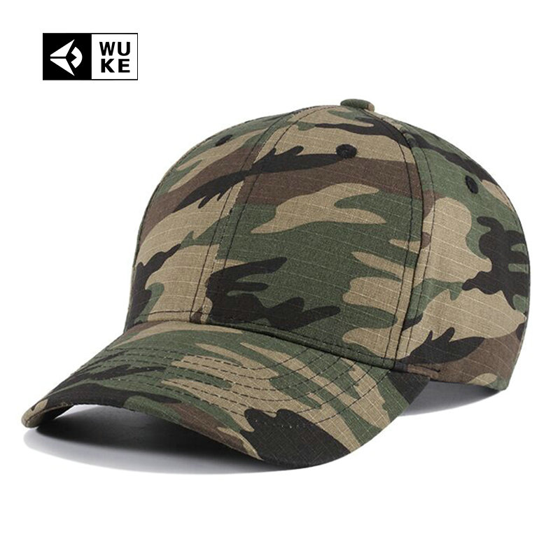 [WUKE] NEW Camouflage Summer Baseball Cap For Men Women Bone Snapback Cap Hip Hop Curved Peaked Tactical Cap Casquette Homme 2016 new new embroidered hold onto your friends casquette polos baseball cap strapback black white pink for men women cap