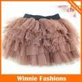 Winniefashions фабрики! Девушки юбки 2014 коричневый туту наряды пачки пышная юбка для девочек 3-12Y балетная пачка юбки бесплатная доставка