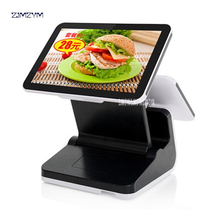 S10 Doppel bildschirm pos für restaurant kassen 12 zoll pos touch alle in einem pc mit bargeld duawer/ drucker 220 v/50 hz Spannung - 2
