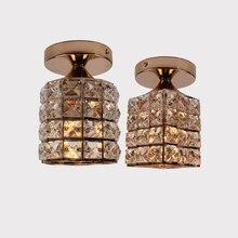 Современный золотой E27 квадратный и цилиндрический потолочный светильник для внутренней спальни гостиной Кабинета ванной комнаты