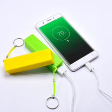 Newest Small Portable 3500mAh Power Bank with keychain bank External Battery Charger For Android Phone