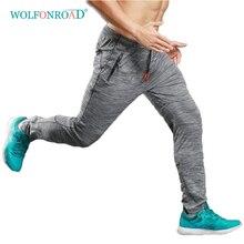 WOLFONROAD Summer Thin Jogging Pants Men Elastic Breathable Pants Running Fitness Sport Pants Men Gym Trousers L-LX-001