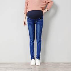 Демисезонный новые джинсы для беременных вышитые беременных Для женщин тонкий поддежка живота джинсовые штаны для беременных зимние