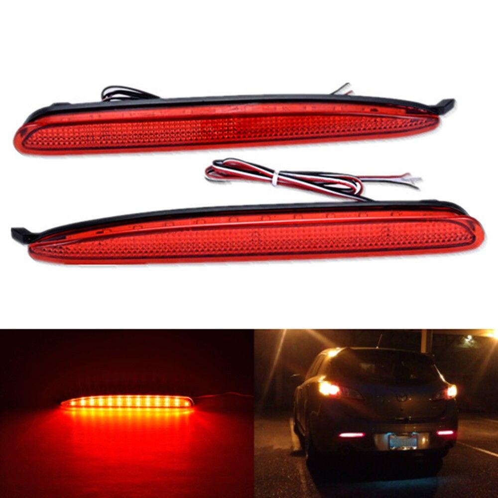 CYAN SOIL BAY For Mazda 6 Mazda6 2003-08 Red White Smoked Lens LED Rear Bumper Reflector Tail Brake Stop Light Atenza