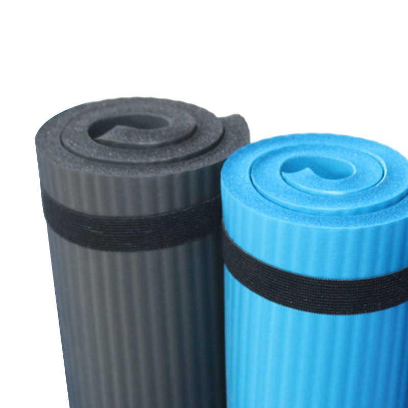 Alfombra de entrenamiento de Pilates gruesa 60X25X1,5 Cm cojín de rodilla de Yoga soporte Extra para las rodillas muñecas codos negro