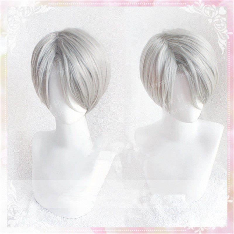 Alta qualidade yuri!! Peruca para cosplay nikiforov, peruca sintética resistente ao calor + touca