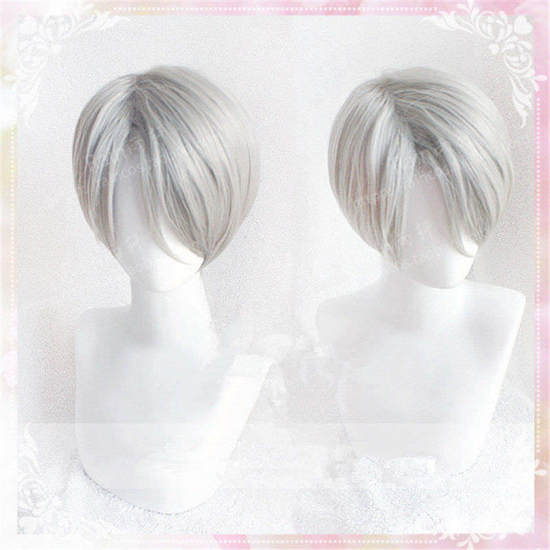 High Quality Yuri!!! On Ice Viktor Nikiforov Wig Victor Nikiforov Cosplay Wigs Heat Resistant Synthetic Hair Wigs  + Wig Cap