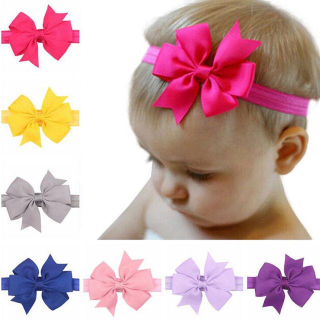10 pcs. Baby Girl Solid Color Headband Bundle Set