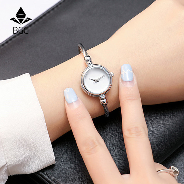 Hot BGG Elegant Ladies Bracelet Watch Women New Arrival Gold & Silver Strap Simp