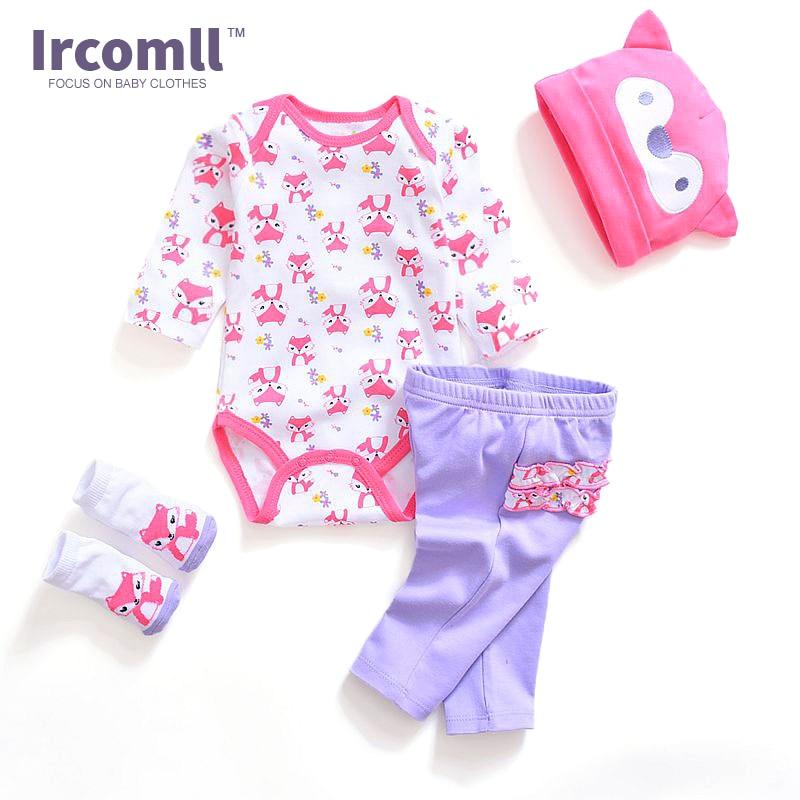 Dětské oblečení Dětské oblečení Sady 100% bavlna Cute 4 kusy - Oblečení pro miminka