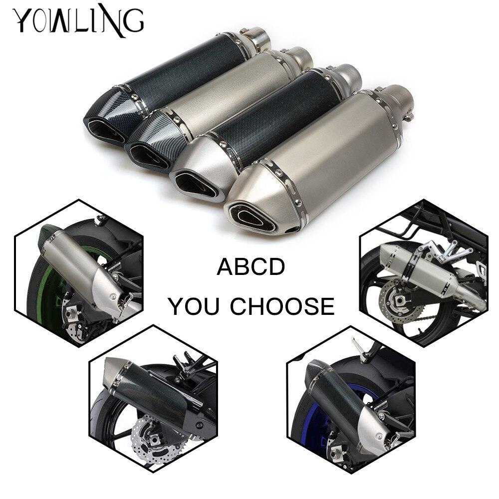 Universal 36-51mm MOTORCYCLE EXHAUST MUFFLER SCOOTER PIPE DIRT BIKE For KTM Duke 390 RC390 200 Duke RC200 RC125 125 Duke