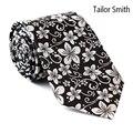 Smith a medida Para Hombre de Lujo Floral de Lujo Diseñador Empate Traje de Boda Vestido Formal Corbata Corbata Jacquard de Seda Natural Puro Hecho A Mano