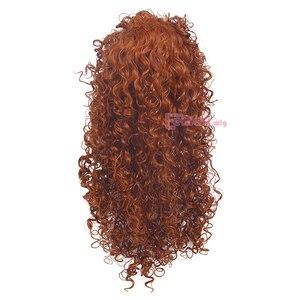 Image 4 - L email perruque synthétique bouclée Orange perruque de Cosplay pour femmes, perruque de film animé princesse courageuse mérida
