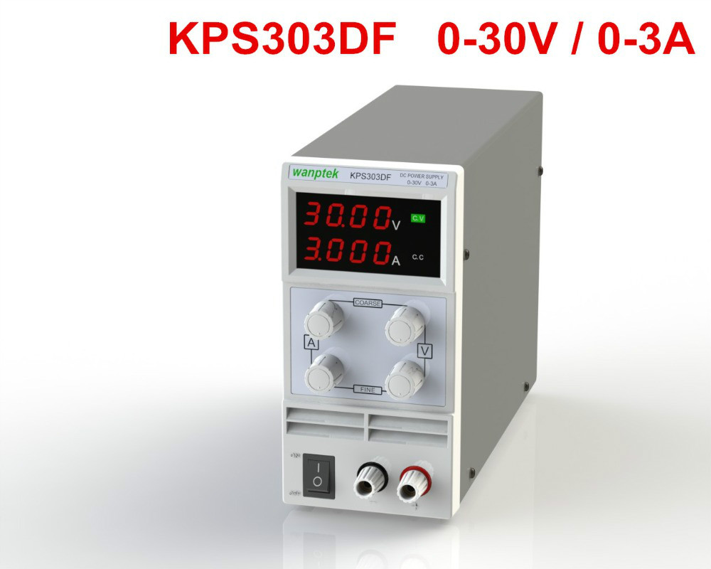 цены Free shipping KPS303DF 30V3A 110V-230V 0.1V/0.001A EU LED Digital Adjustable Switch DC Power Supply mA display