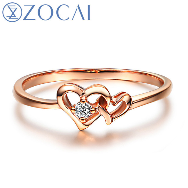 Heart Shaped Gold Rings Rings & Bands