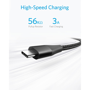 Anker Powerline+ II USB-C to USB-A Cable for Samsung Galaxy S10 / S9 / S9+ / S8/S8+/Note 8 LG V20/G5/G6 iPad Pro 2018 and more