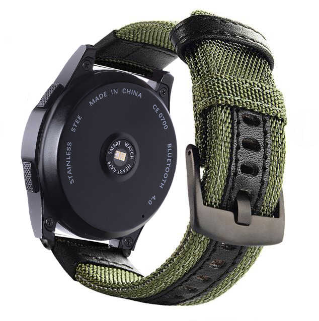 רצועת 22 20mm עבור Samsung ציוד ספורט S2 S3 קלאסי Frontier galaxy watch 42 46mm להקת huami amazfit ביפ huawei honor קסם gt 2