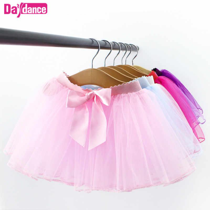 39aaf67ae3284 Балетная пачка Детские балетная юбка для девочек тянуть на тюлевые юбки  белый черный розовый балетные трико