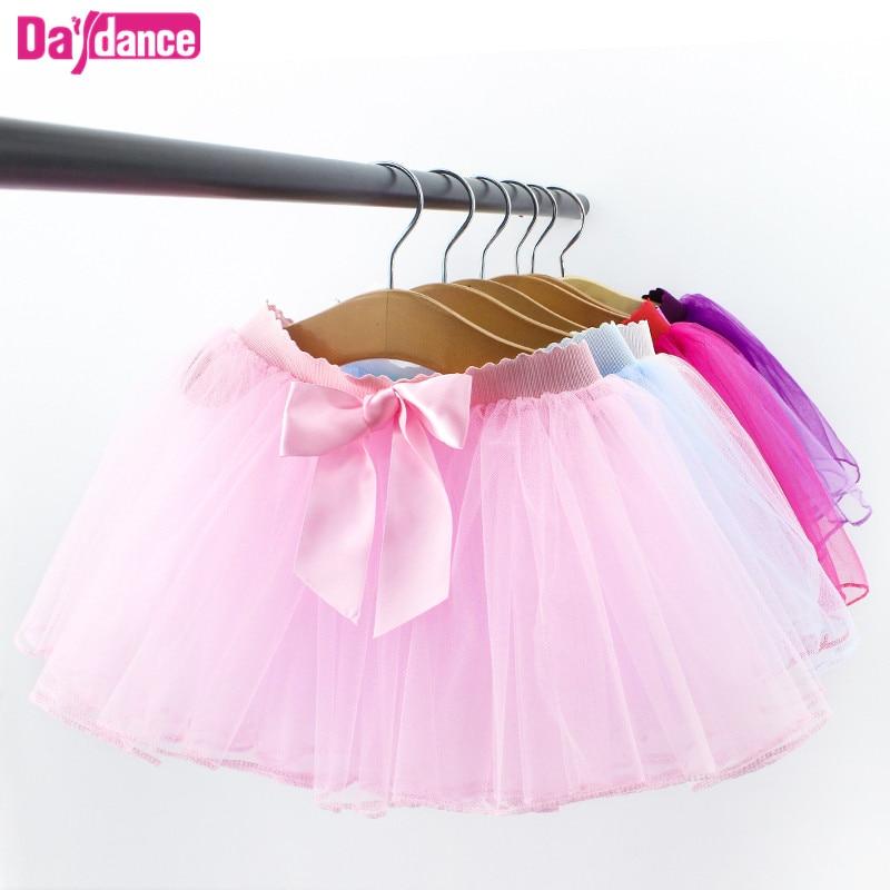 Ballet Tutu Baby Girls Ballet Skirt Pull On Tulle Skirts White Black Pink Ballet Leotards Fluffy Tutus