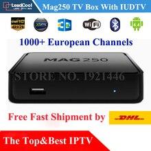 Mag250 IPTV Caixa de TV + 1 Ano de Assinatura IUDTV 1000 Europa Canais De Turco do REINO UNIDO Suécia Sérvia Grécia DHL Rápido grátis