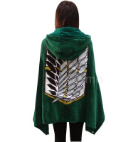 Fashion Coral Fleece Anime Shingeki No Kyojin Attack On Titan Cloak Cape Blanket Cosplay