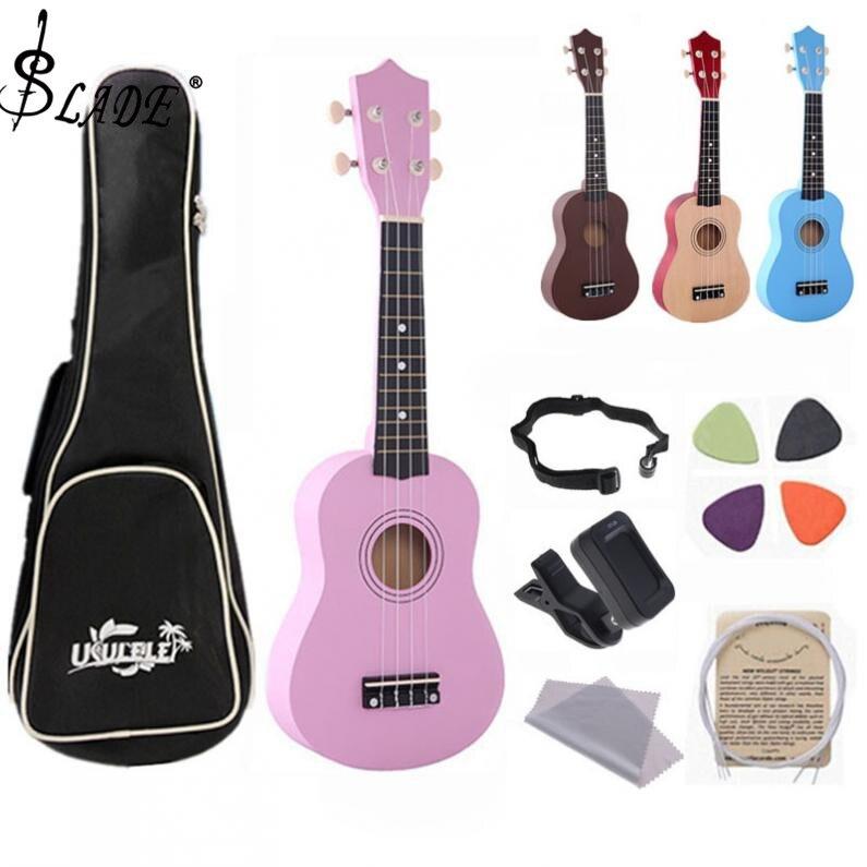 6b13ec88a 21 pulgadas ukelele principiantes niños 4 cuerdas Uke Hawaii guitarra bajo  cuerda instrumentos ...