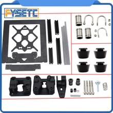 Telaio in Lega di alluminio Y di Trasporto Piastra Frontale + Profilo In Alluminio Canne Lisce Kit + U bulloni LM8UU + Drivegear kit Per Prusa i3 MK3