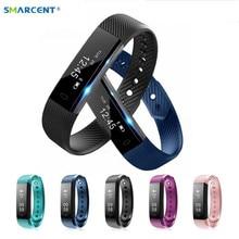 Smarcent Новый ID115 HR Смарт Браслет монитор сердечного ритма fitnesst трекер Смарт Браслет для IOS телефона Android