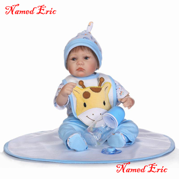 40cm Silicone Reborn Baby Doll real boy girl reborn babies for kids doll Gift Soft bebe alive reborn bonecas