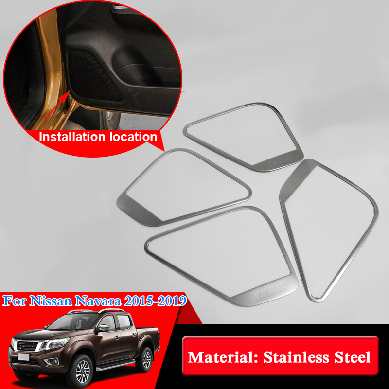 Car Styling ABS Car Door Horn Decoration Frame Door Interior Frame Speaker Accessories For Nissan Navara