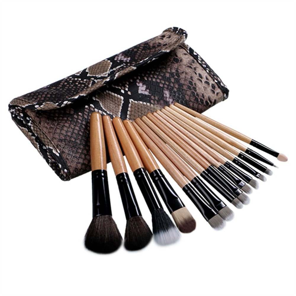 12pcs Pro Makeup Brushes Set Highlighter Cosmetic Case Kit Pincel Maquiagem Foundation Powder Eyeshadow Eyeliner Lip Brush Tools 24pcs makeup brushes set cosmetic make up tools set fan foundation powder brush eyeliner brushes leather case with pink puff