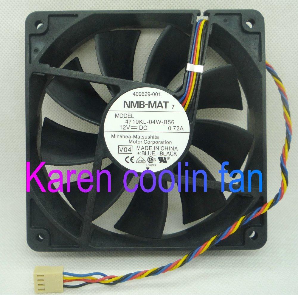 NMB 12CM 4710kl-04W-B56 12025 12V 0.72A 4WIRE Cooling Fan