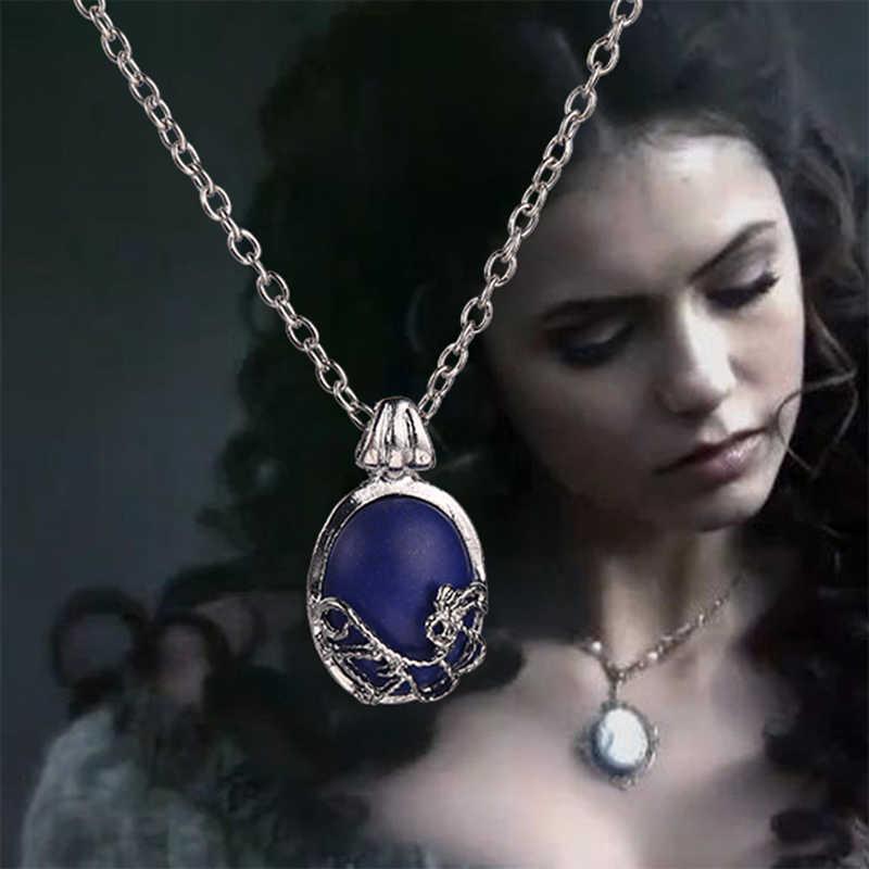 The Vampire Diaries Kalung Vintage Katherine Liontin Perhiasan Film COSPLAY untuk Wanita Gratis Pengiriman