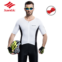 Santic Cycling Jersey Set Men Cycling Clothing with Pad Summer Breathable MTB Suit Bicycle Tops Bike Shirt Clothes Ropa Ciclismo