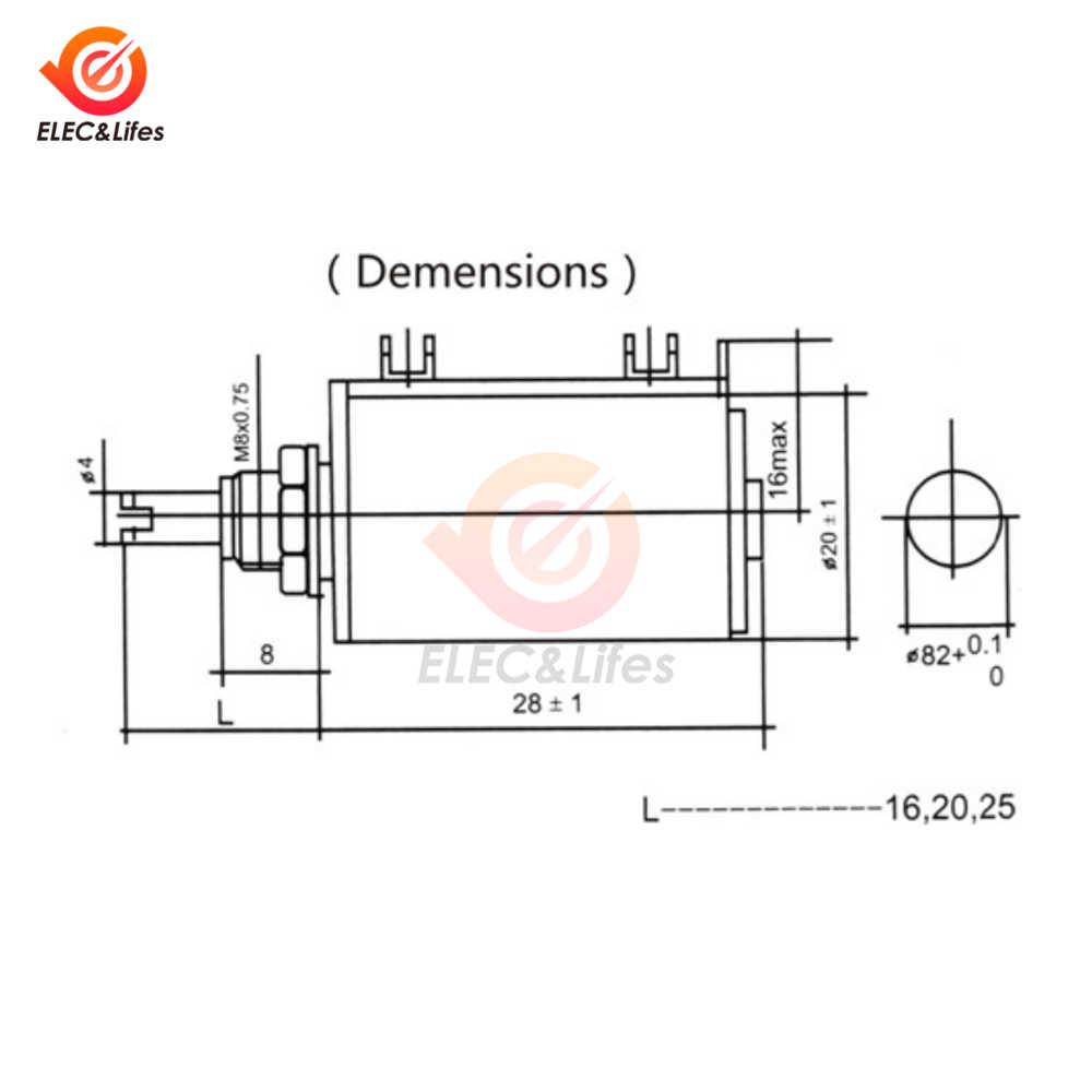 WXD3-12-1W Multiturn Wirewound Potentiometer 1 W WXD3-12 100 220 470 1 K 3.3 K 4.7 K 10 K 22 K 33 K 47 K Ohm±5 % Potentiometer ปรับได้