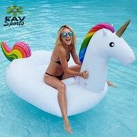 Unisex 78'' Giant Inflatable Swimming Rings Flamingo Pool Raft Float Summer Beach Water Pool Fun Tube Raft Toys