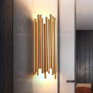 Image 2 - Moderne Kreative Individualität Metall Wand Licht Retro Gold Wohnzimmer Schlafzimmer Küche Gang Dekoration Wand Leuchte Beleuchtung