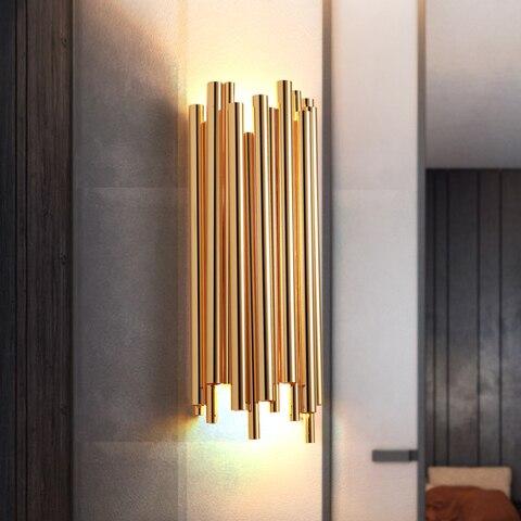criativo moderno individualidade metal luz parede