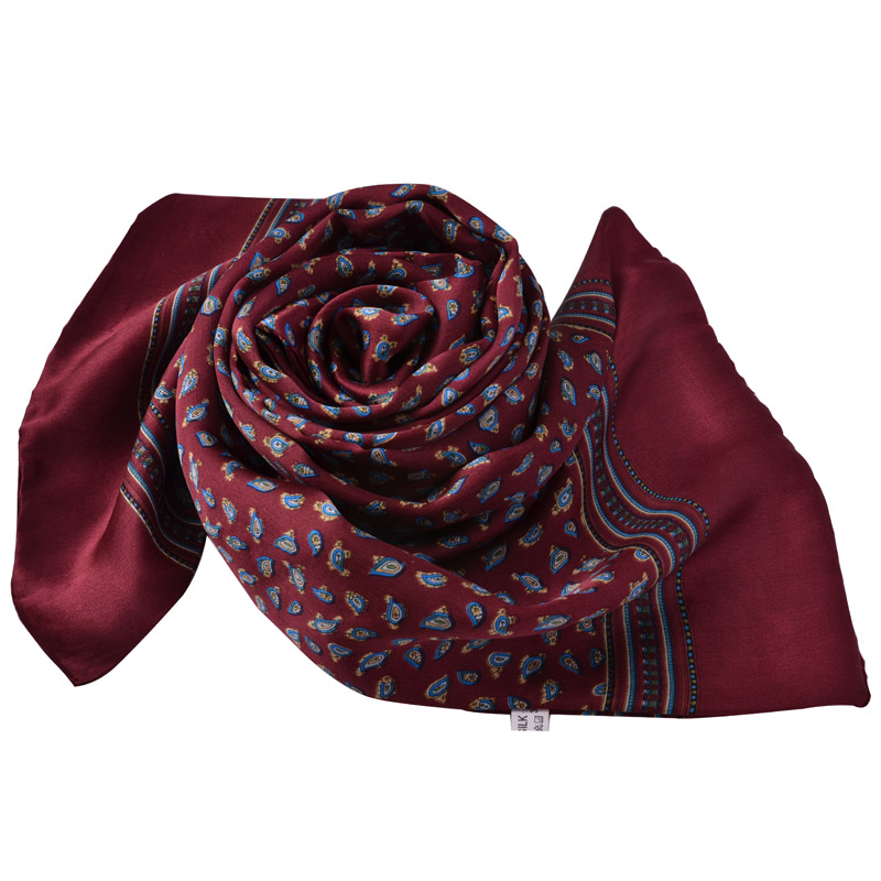 2014 Fashion Men Double Layer Silk Male Scarf Autumn And Winter Commercial Men Silk Long Scarves Printed 160*26cm