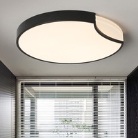 Round White Black Modern Led High Quality Ceiling Lights For Living Study Bedroom Kids Room Ultra