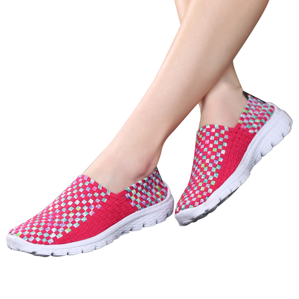 Fashion Summer Breathable Women Loafers Woven Casual Shoes Handmade Elastic Woven Flat slip on Shoes WomanFashion Summer Breathable Women Loafers Woven Casual Shoes Handmade Elastic Woven Flat slip on Shoes Woman