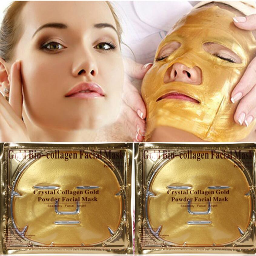 10pcs Gold Mask Anti Wrinkle Whitening Facial Mask Skin Care Sheet Mask Anti-aging Moisturizing Collagen Face Mask Big Promotion