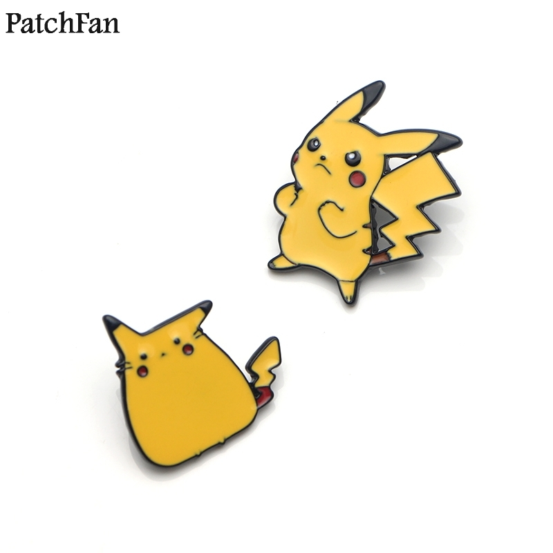 Arts,crafts & Sewing Badges 20pcs/lot Patchfan Pocket Monster Pikachu Cartoon Zinc Tie Pins Backpack Clothes Brooches For Men Women Hat Badges Medals A1594 To Win Warm Praise From Customers