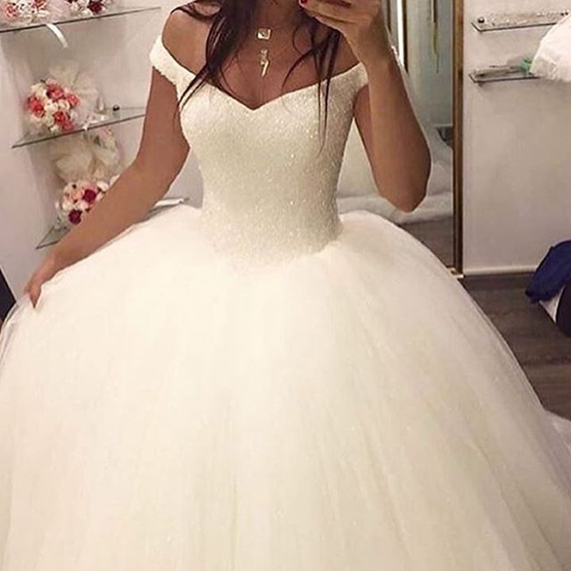 Buy stunning white wedding gowns 2017 off for White off the shoulder wedding dress
